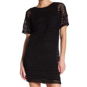 Vince Embroidered S/S Black Dress